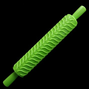 Rolling Pin Roller Baking Tools Fondant Embossed Mold Cake Decorating Mold Paste Tools Green Color