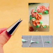 #352 Rose Leaves Cupcake Decorating Tips Pastry Nozzles Fondant Decorations Bakeware