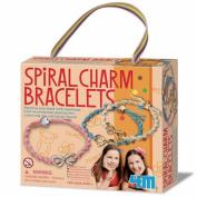 Study 4M spiral charm bracelet craft, work birthday 5 years old to do work to do work
