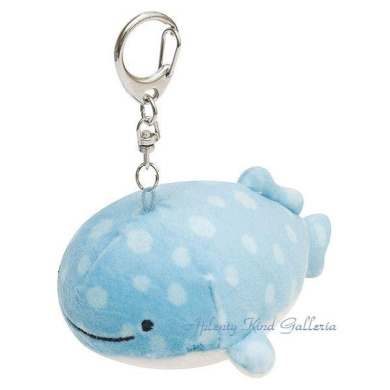 Have supermarket rice cake, and hang it, and is stuffed toy MX-02801 key ring mini- goods / and straw; or healing goods / marshmallow polyester whale shark / present gift