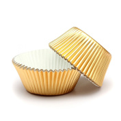 50 x Paper Cake Cupcake Cases Liners Muffin Kitchen Baking Wedding Party Gold Color
