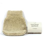 NATURAE DONUM - Hemp Sponge Glove - Specially Designed For Male Skin - Improves Skin Oxygenation - Washable in washing machine - Made in Italy