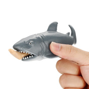 Mingfa Squishy Slow Rising Squishies Jumbo Funny Shark Stress Reliever Squeeze Toy Sensory Toys for Autism ADD ADHD 12CM