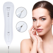 Ladygo Dot Mole Removal Pen Eraser Plasma Spot Pen Tatto Remover Perfect for Skin Tag Freckles, Senile Plaques Tattoo Pigmentation Skin, Nevus Removing No Bleeding, USB Charging