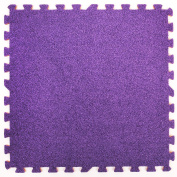 Purple Carpet Interlocking Foam Mats - Perfect for Floor Protection, Garage, Exercise, Yoga, Playroom. Eva foam