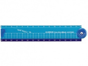 Kutsuwa / high line folding aluminium ruler blue /XS31BL