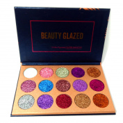 Beauty Glazed Eyeshadow Palette Ultra Pigmented Mineral Pressed Glitter Make Up Palettes Flash Colours Long Lasting Waterproof 15 Colours