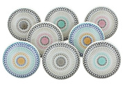 Set of 8 Positive Energy Ceramic Door Knobs Vintage Shabby Chic Cupboard Drawer Pull Handles by G Decor