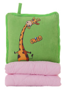 Good Night Multifunction Cartoon Pillow Blanket Dual-use Office Fold Nap Air Conditioning Blanket, A
