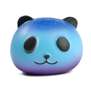 CALISTOUS 8CM Sky Panda Squishy PU Foam Toys Soft Phone Straps Key Straps Craft Decor