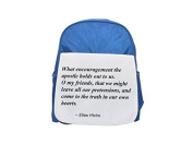 What encouragement the apostle holds out to us. O my friends, that we might leave all our pretensions, and come to the truth in our own hearts. printed kid's blue backpack, Cute backpacks, cute small
