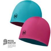 Buff Junior Hat Wool Reversible Pink & Blue