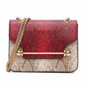 Fashion All Match Embossed Barbell Small Square Bag Chain Shoulder Bag Messenger Bag , red