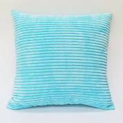 Baozengry Solid Candy Colour Sofa Pillow Simple Car,45X45Cm (With High Quality Core),Wathet