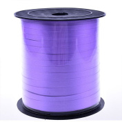 Nacpy Plastic Ribbon Wide Solid Colour Double Face Satin Ribbon Curling Ribbon Bundle Balloon Ribbon Purple