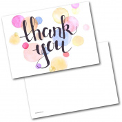 *NEW* Pack of 20 Thank You Cards Thankyou Pastel Spots Postcards Cards with Envelopes