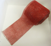 24 Row Diamonte diamante Rhinestone effect Plastic Mesh Ribbon 1m to 9.1m