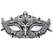 Visork Mask Masquerade Lace Mask Metal Mask Rhinestones Face Suit for all kinds of occasion like party and Halloween Random Colour