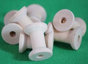 Threading-Yarn-Wire-Crafts-Sewing-Spools-Reels SMALL WOODEN BOBBINS / SPOOLS / COTTON SEWING REELS - PACK OF 6