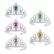 TOYMYTOY 5pcs Kids Princess Tiara Crown Set Girls Dress up Party Accessories