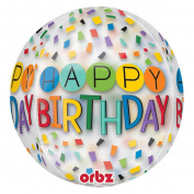 Amscan International 3516801 Happy Birthday Foil Balloon, Rainbow