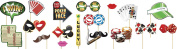 Adults Party Eve High Roller Gambling Casino Night Photobooth Kit 18 Piece