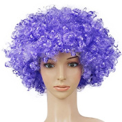 Outflower Wig Clown Hair Wigs Child Adult Masquerade Party Hair Halloween Christmas Props Lila