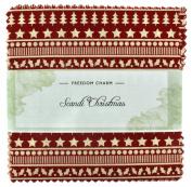 Fabric Freedom Scandi Christmas Freedom Charm, 100% Cotton, Multicoloured, 13 x 13 x 1.5 cm