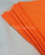 Pack of 5 Sheets - 15cm SUPER BRIGHT ORANGE - 100% Acrylic Craft Felt 15cm x 15cm Squares for Crafting, and Soft Toy Making