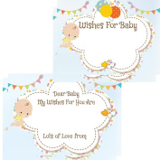 Baby Shower Baby Advice Wishes Cards Cute Baby Design 16 Guests Game Activity .