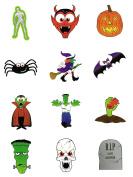 288 Kids Party Fun Novelty Temporary Transfer Tattoos Horror Halloween 24 Packs