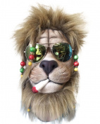 RASTA LION Mask , Dreadloacks, Overhead , Fake Joint, Sunglasses, Zoo Animal Fancy Dress