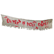 Halloween Haunted House Bloodied Sinister Surgery Cloth Bandage Banner Decoration
