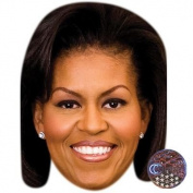 Michelle Obama Celebrity Mask, Card Face and Fancy Dress Mask