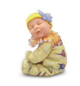 Anne Geddes Zodiac Collection Gemini 23cm Baby Doll - Bean Filled Soft Body
