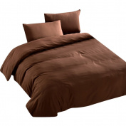 Zhhlaixing Simple Solid colour Plain Duvet Cover Pillowcase Super soft Bedroom Quilt Cover Bedding Set