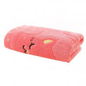 Pu Ran Child Cute Cat Musical Note Soft Towel Water Absorbing for Bathing Shower - Pink