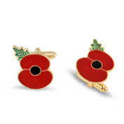 The Royal British Legion Ridge Poppy Cufflinks