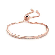 Rose Gold Friendship Bracelet with Crystals from ® in Gift Pouch