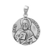 Pendant silver medal law 925m 27mm St. Jude Thaddeus. [AB0702]