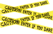 Fancy Dress Halloween Party Decoration Caution Enter If You Dare Tape Pack Of 3