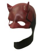 Halloween Devil Red / Black Latex Mask Adult Carnival Masks Cosplay Helmet Mask - Daredevil The Dare Devil Full Head