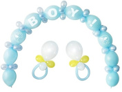 Baby Shower Balloon Kit Boy Party Decoration Blue 64 Balloons Latex Centrepiece
