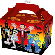 10 Party Boxes -Themed Character Cardboard Lunch Food Loot Treat Box - 20 Designs