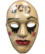 The Purge Anachy 'God' Movie Halloween Mask Fibreglass Deluxe Cosplay Universal Size W/ Adjustable Buckle Strap