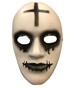 The Purge Anarchy Movie Halloween Mask 'Cross' Deluxe Fibreglass W/ Adjustable Buckle Strap