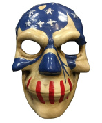 The Purge Mask USA Flag From Election Year 3 Movie Cosplay Halloween - Hard Plastic Universal Mask