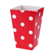 Demiawaking 12Pcs Polka Dot Popcorn Boxes Paper Party Treat Boxes Popcorn Holder Tub Kids for Parties Movie Nights