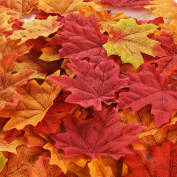 300 Pieces Maple Leaves Artificial Autumn Fall Leaves Multicolor Mixed Garlands Art Scrapbooking Wedding House Decorations