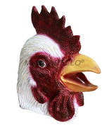 MASCARELLO® Latex Animal Head Rooster Chicken Fancy Dress Stag Hen Party Masks